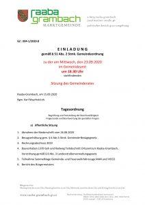 thumbnail of Einladung GR 230920