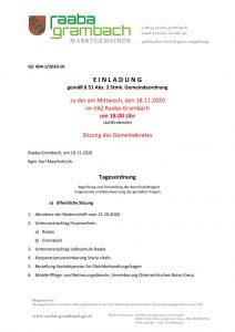 thumbnail of Einladung GR18112020